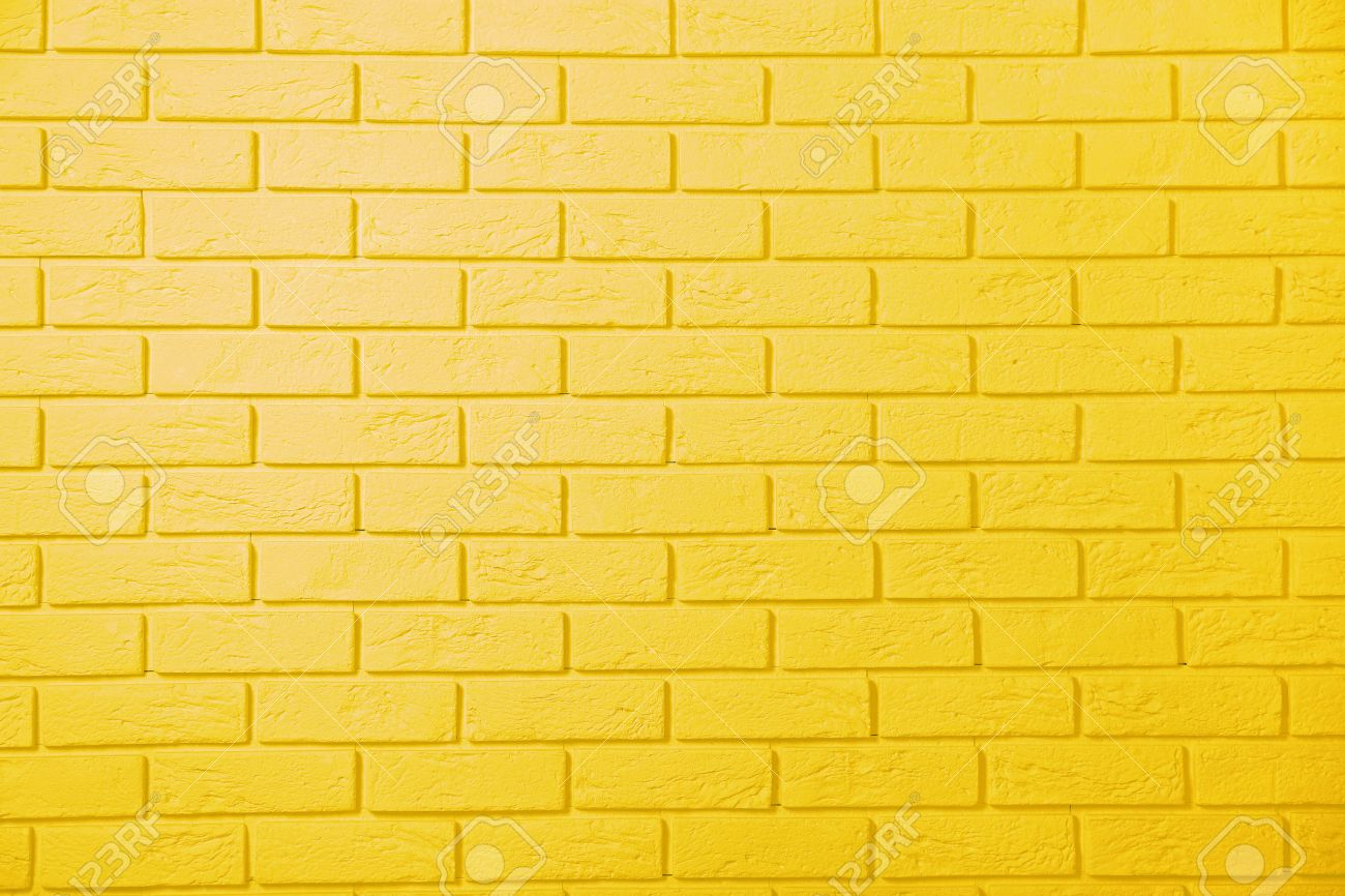 Yellow Brick Wall Background Stock Photo, Picture And Royalty Free ...