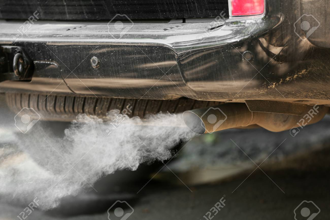 Exhaust pipe with smoke emission. Air pollution concept. Stock Photo - 68451070 & Exhaust Pipe With Smoke Emission. Air Pollution Concept. Stock Photo ...