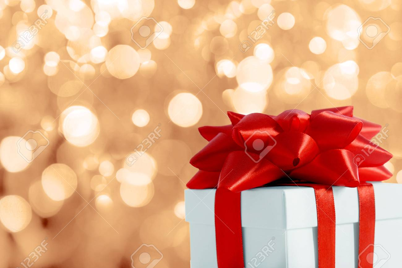 Beautiful christmas gift on blurred background stock photo picture beautiful christmas gift on blurred background stock photo 88524126 negle Choice Image