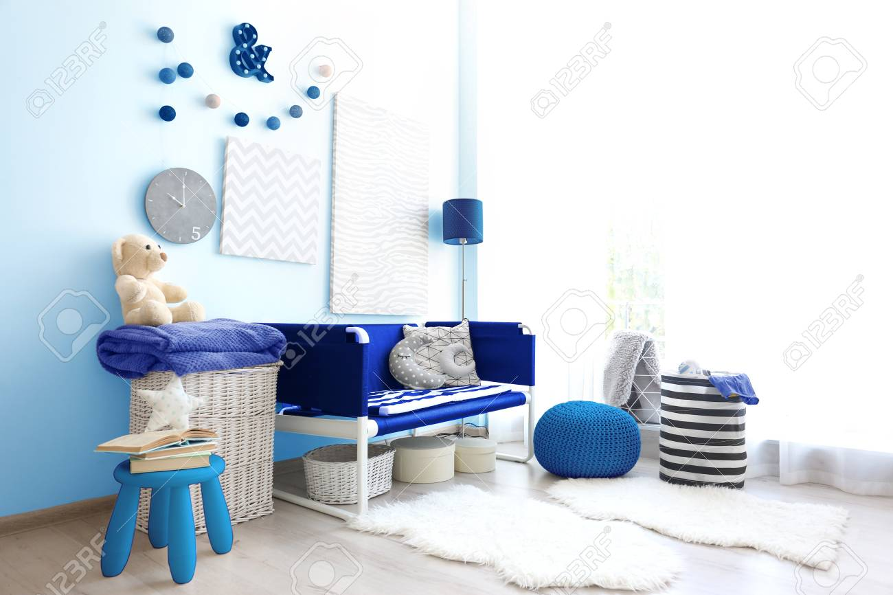 Modern Interior Design Of Childrens Room Stock Photo Picture And