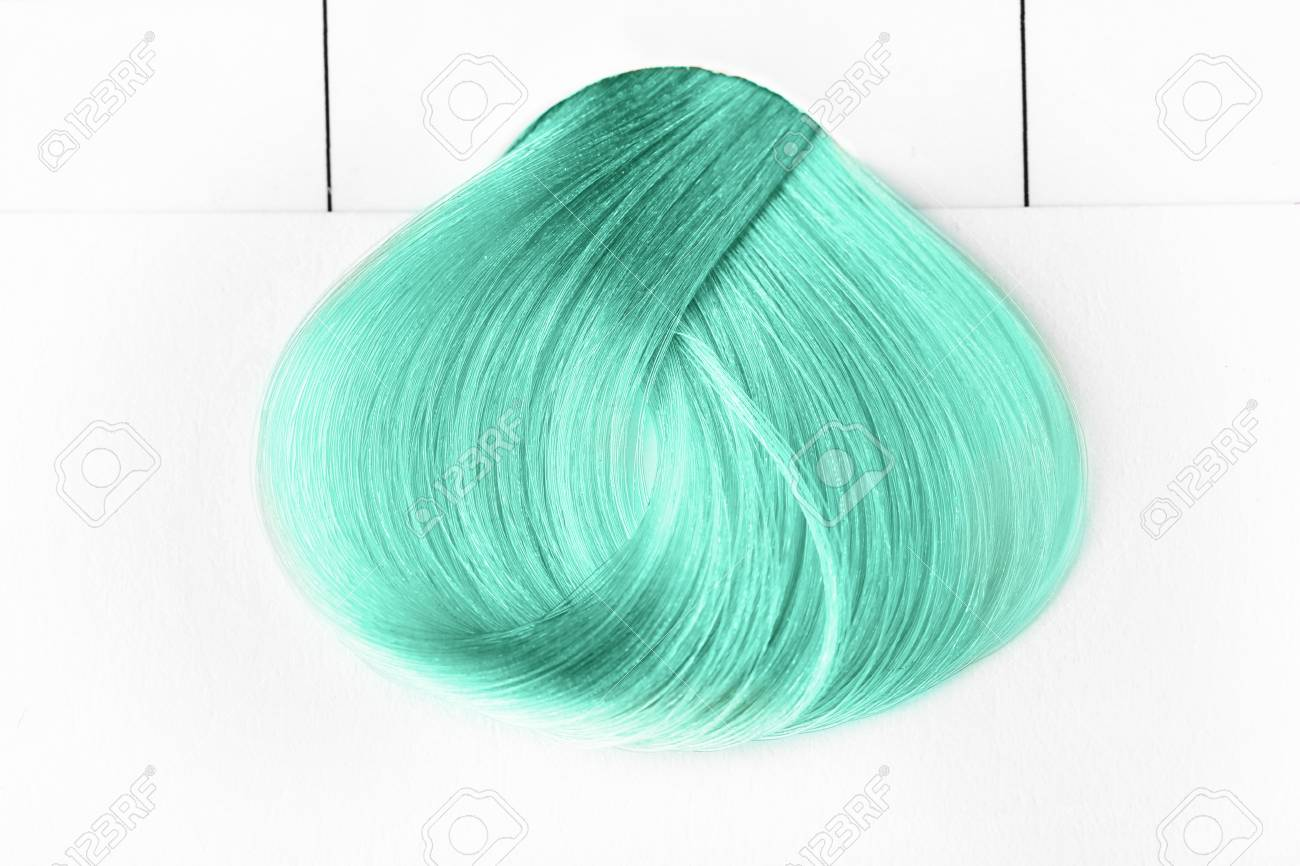 Trendy Hairstyle Ideas Sample Of Mint Hair Color On White