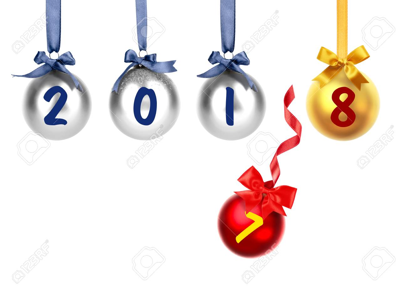 new year 2018 changing 2017 on white background countdown celebration stock photo 92056860