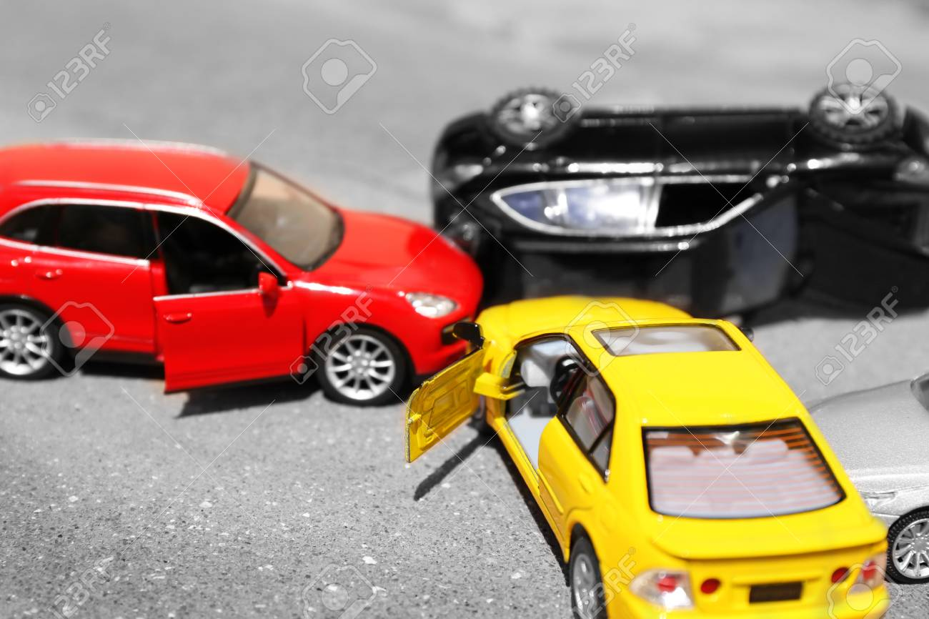 Close Up Of Toy Cars Crash Stock Photo Picture And Royalty Free