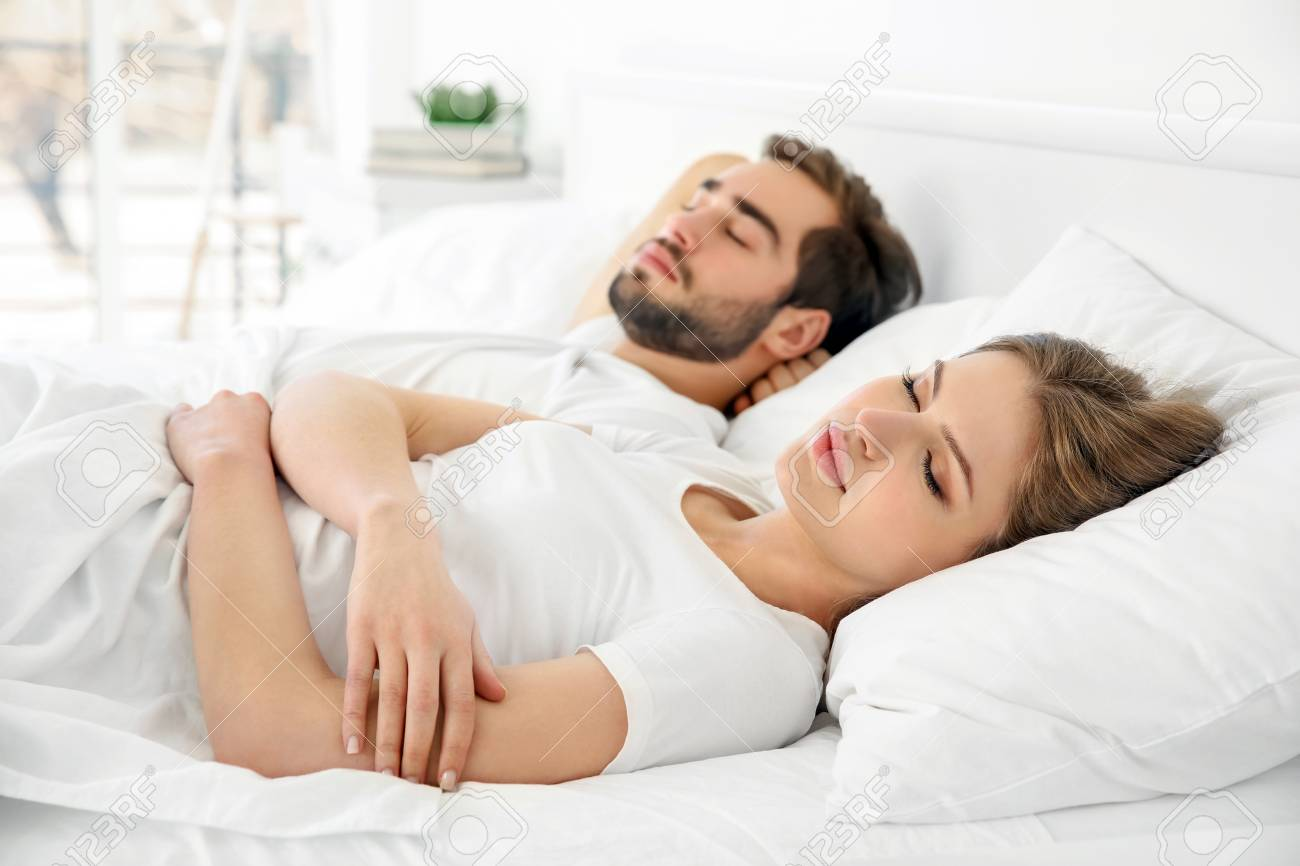 Couples sleeping together cute