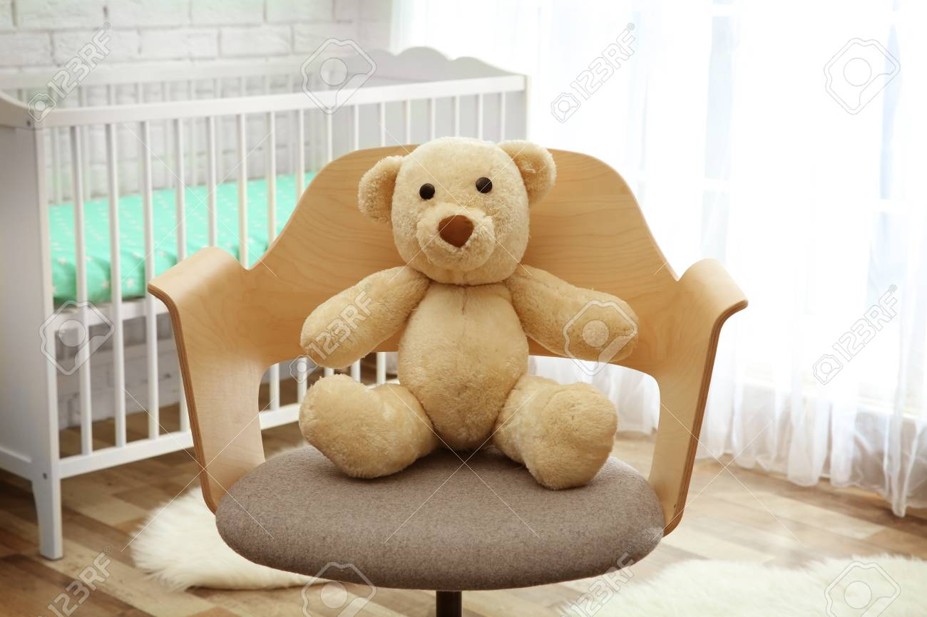 Cute Teddy Bear In Armchair Stock Photo Picture And Royalty Free