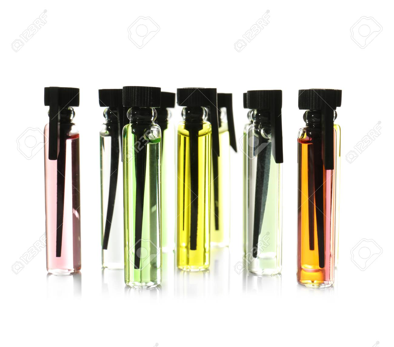 ff0328086 Perfume Samples On White Background Stock Photo, Picture And Royalty ...