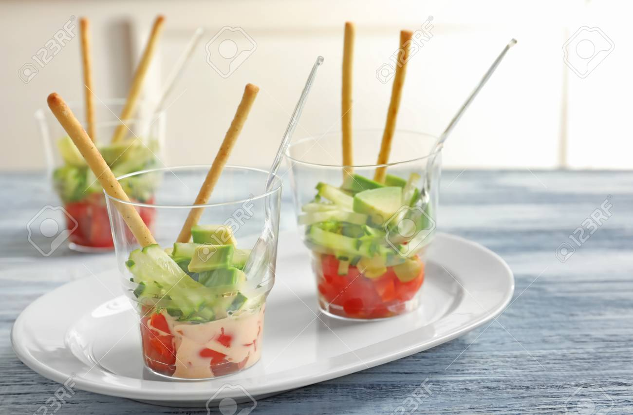 Delicious Appetizers For Baby Shower On Plate Stock Photo Picture