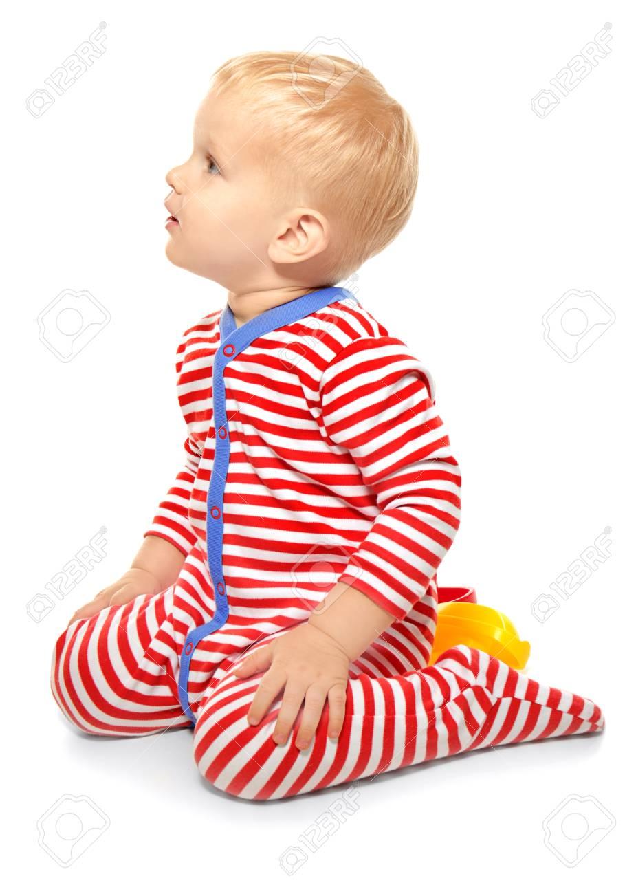 42637c8e1 Cute Little Baby In Romper Suit