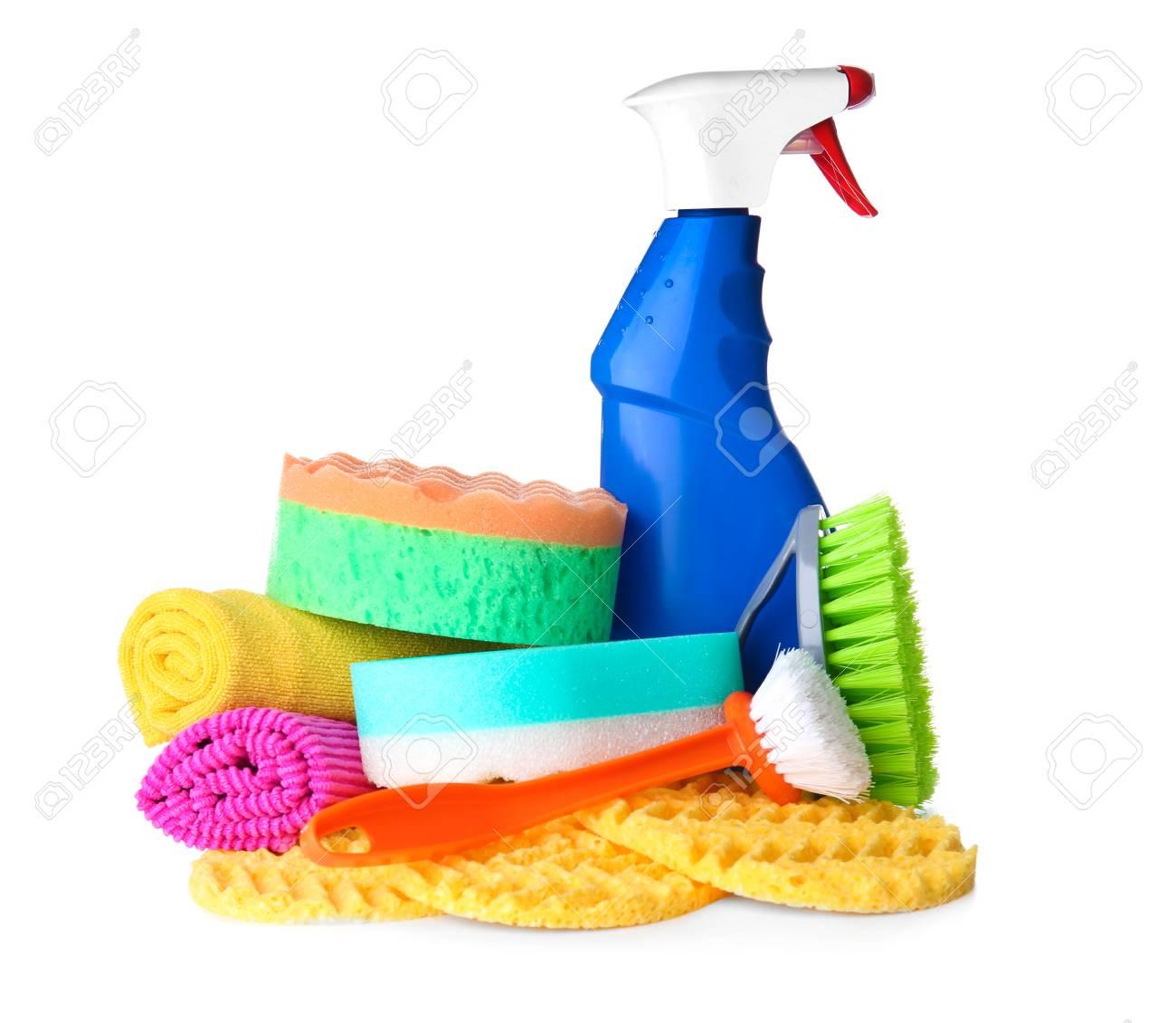 Car Cleaning Supplies >> Car Cleaning Supplies On White Background