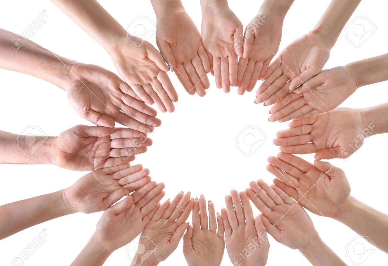 Young People Making Circle With Their Hands As Symbol Of Unity Stock Photo Picture And Royalty Free Image Image 99285643