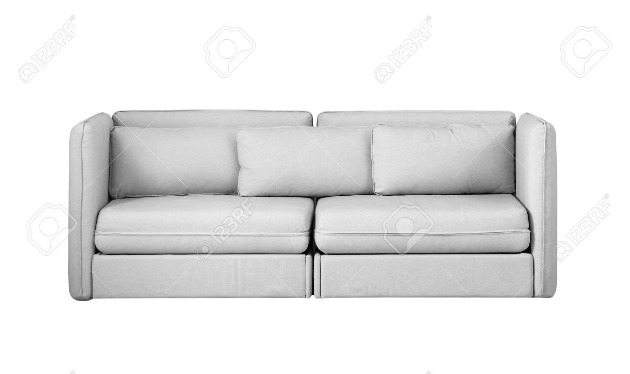 Comfortable sofa on white background. Furniture for modern room..