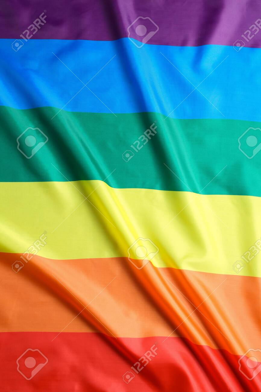 Bright rainbow flag as background. LGBT community - 120495342