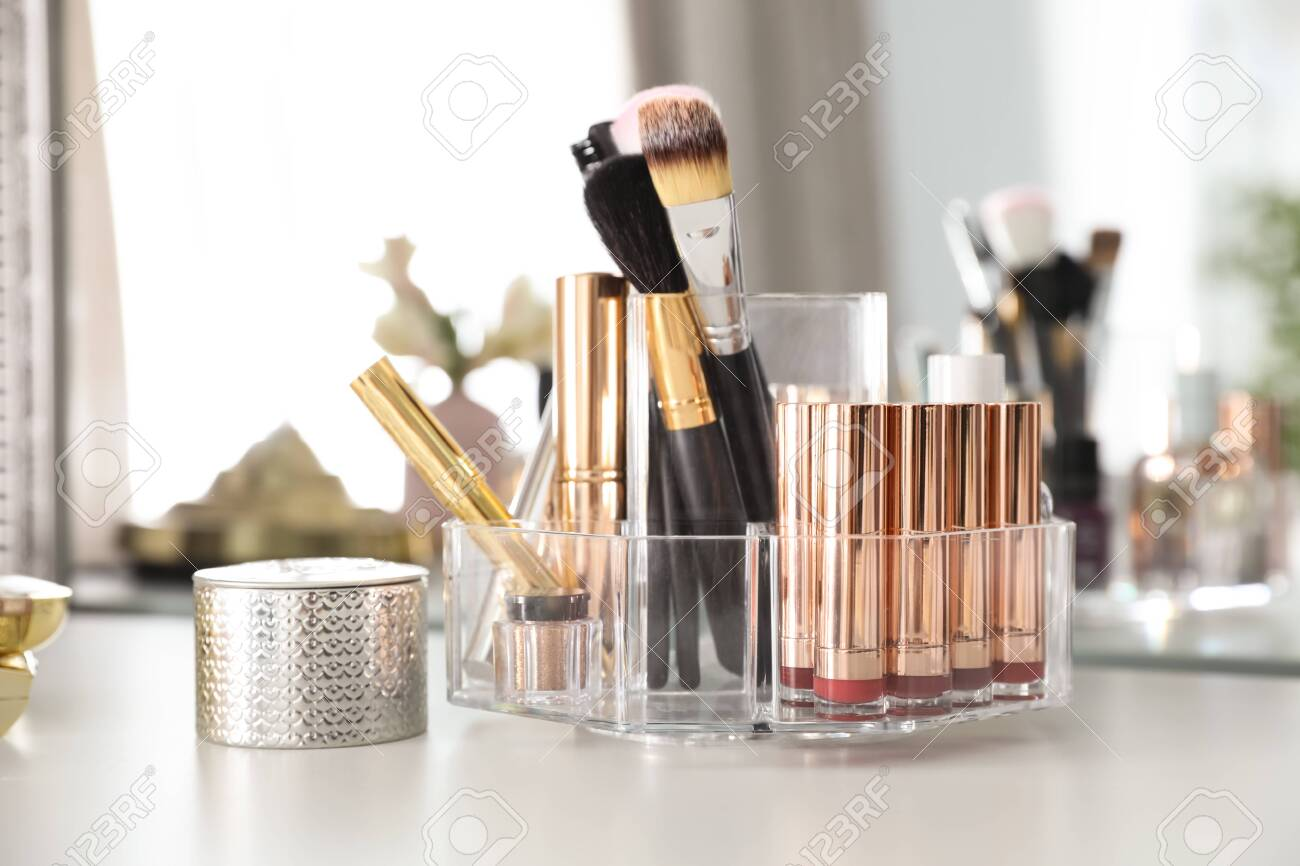 Luxury Makeup Products And Accessories On Dressing Table With Stock Photo Picture And Royalty Free Image Image 122529447