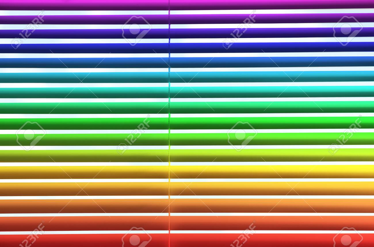 Modern Colorful Window Blinds As Background Closeup View Stock Photo Picture And Royalty Free Image Image 124803489