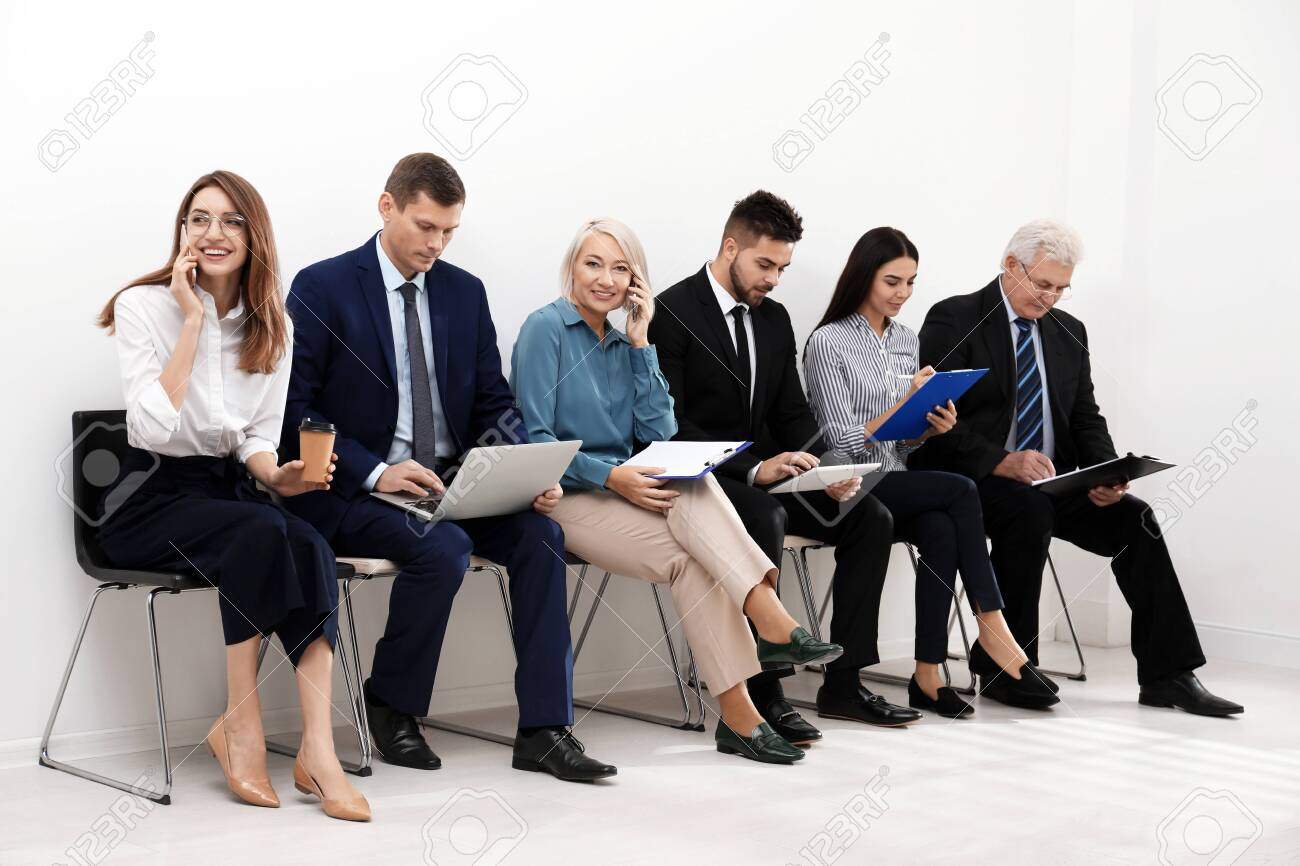 People waiting for job interview in office - 136320746