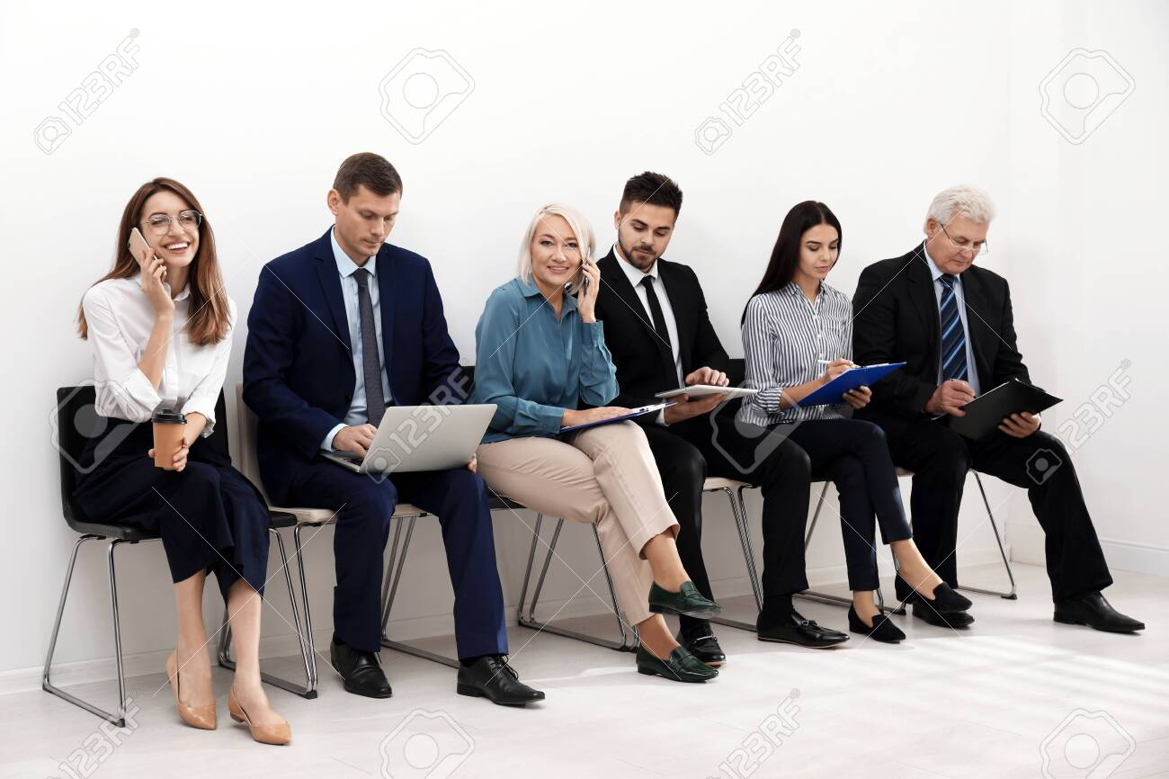 People waiting for job interview in office - 136320789