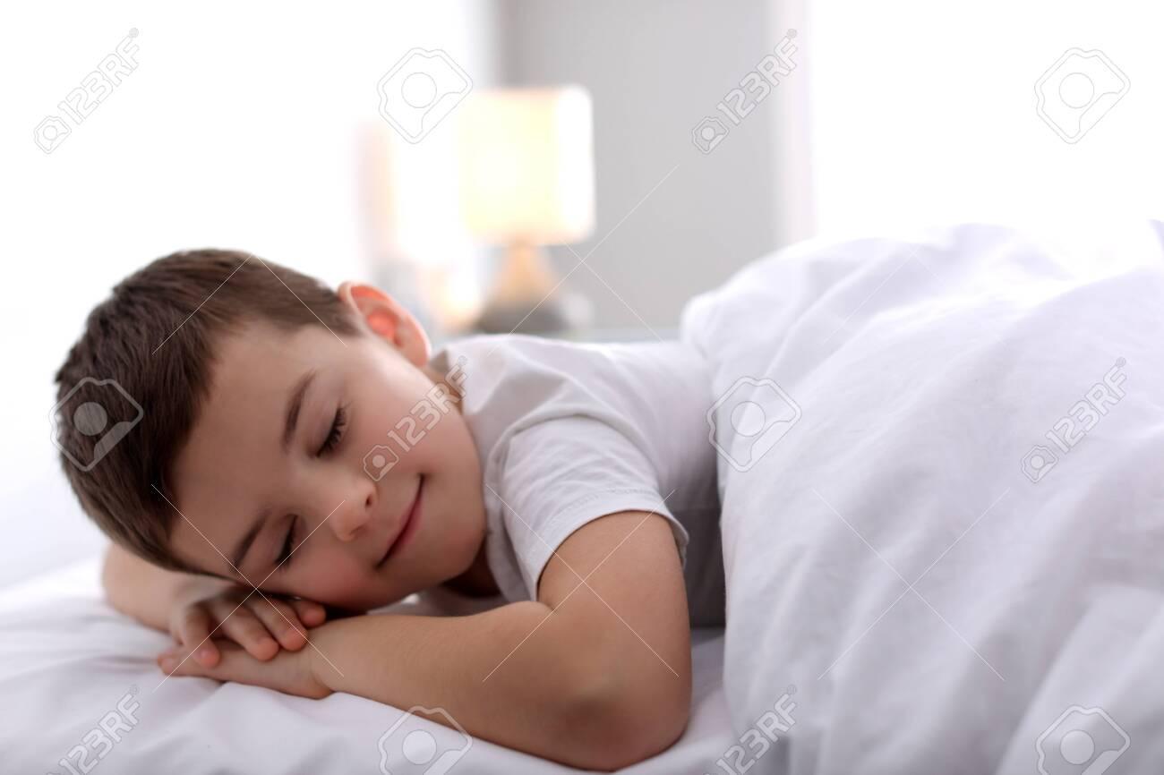 Cute little boy sleeping at home. Bedtime - 141043040