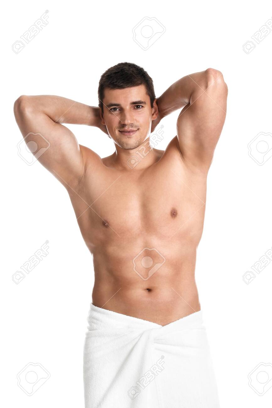 Man with body on white background - 150119628