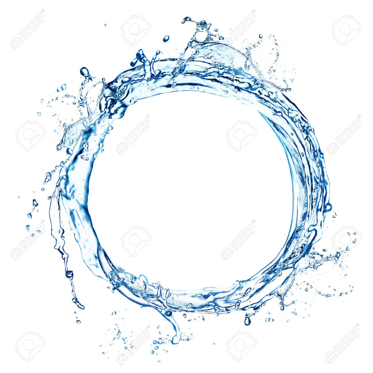 Abstract splash of water isolated on white - 167769017