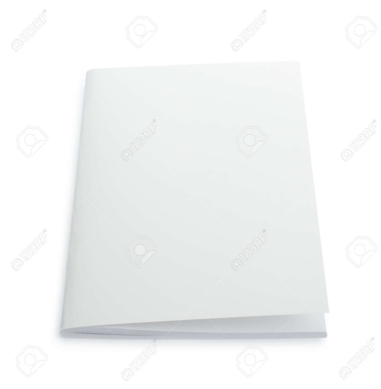 Blank paper brochure isolated on white. Mockup for design - 169674697