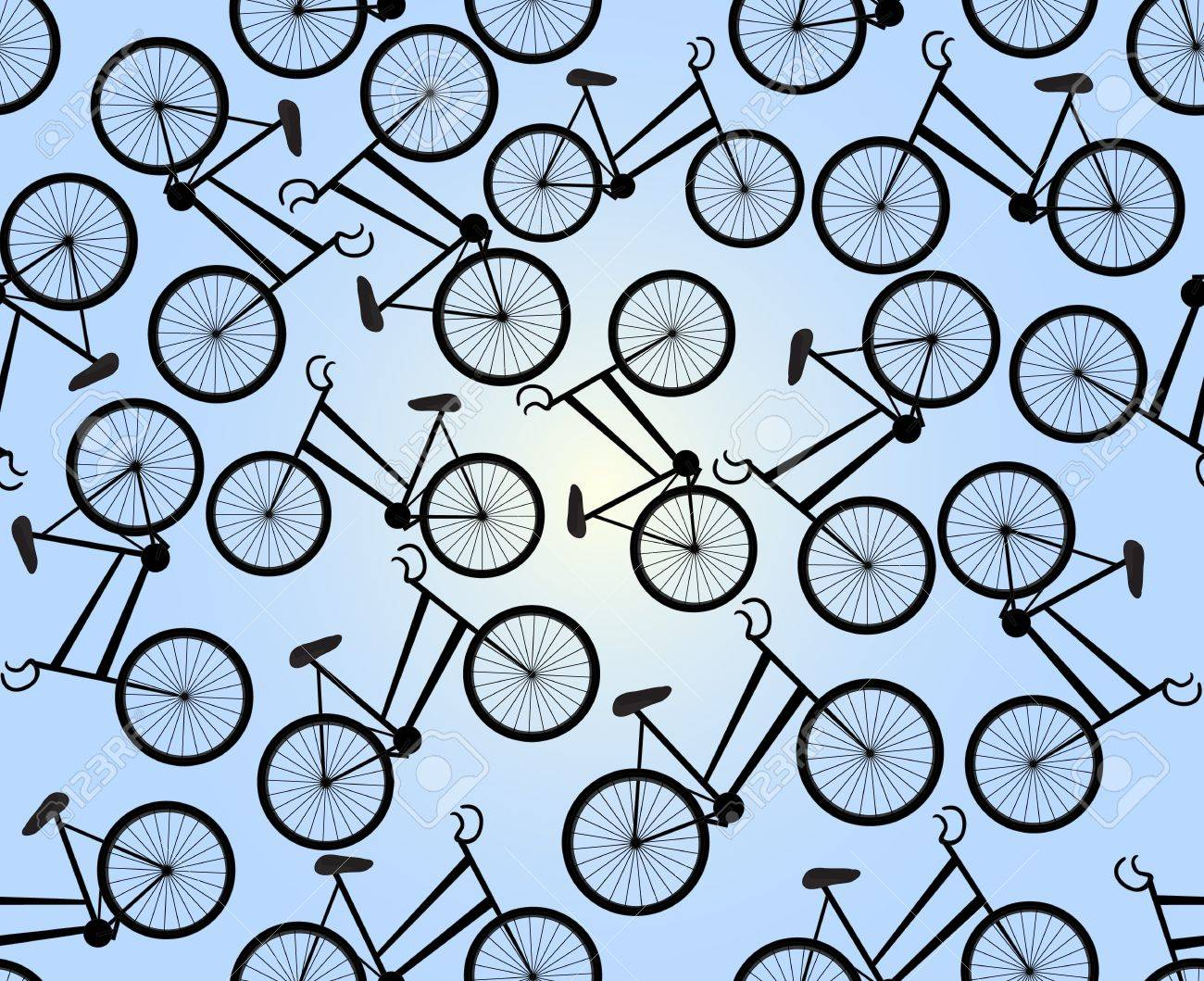 cute seamless pattern with bikes you can use any color of