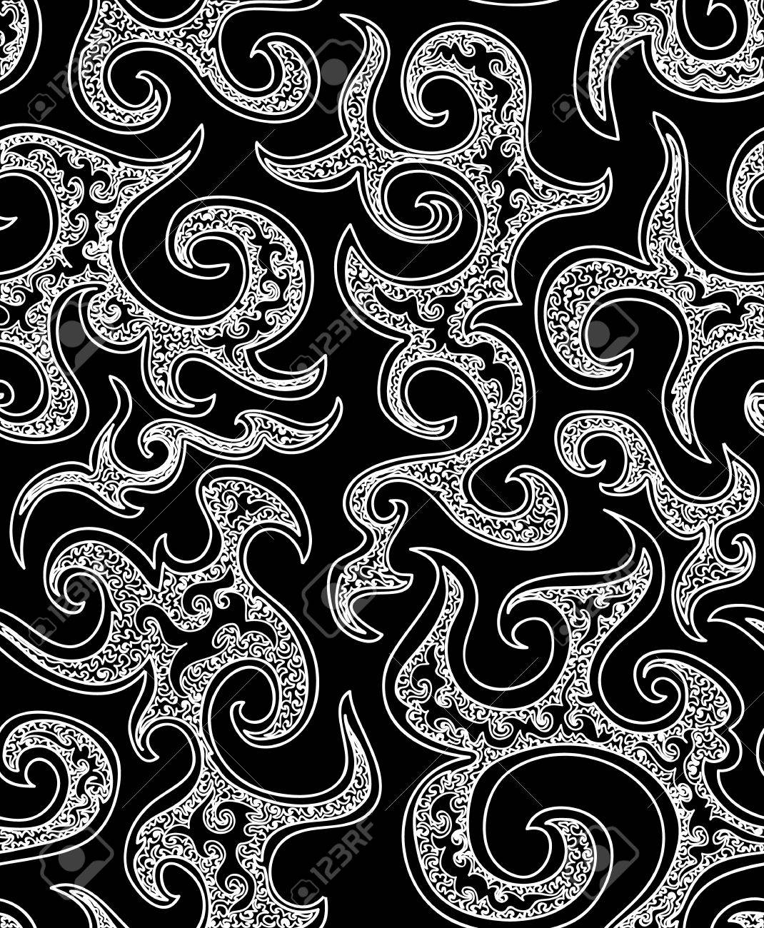 Black bed sheet texture seamless - Beautiful Vector Black And White Luxury Seamless Pattern You Can Use Any Color Of Background Stock