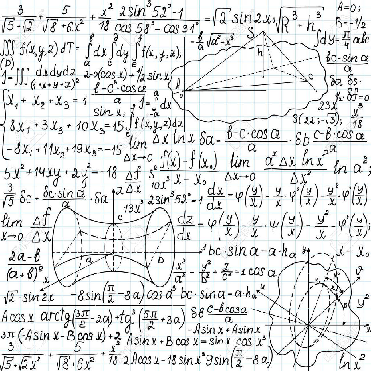 Hermosa Modelo Inconsútil Matemática Con Cifras, Fórmulas Y ...