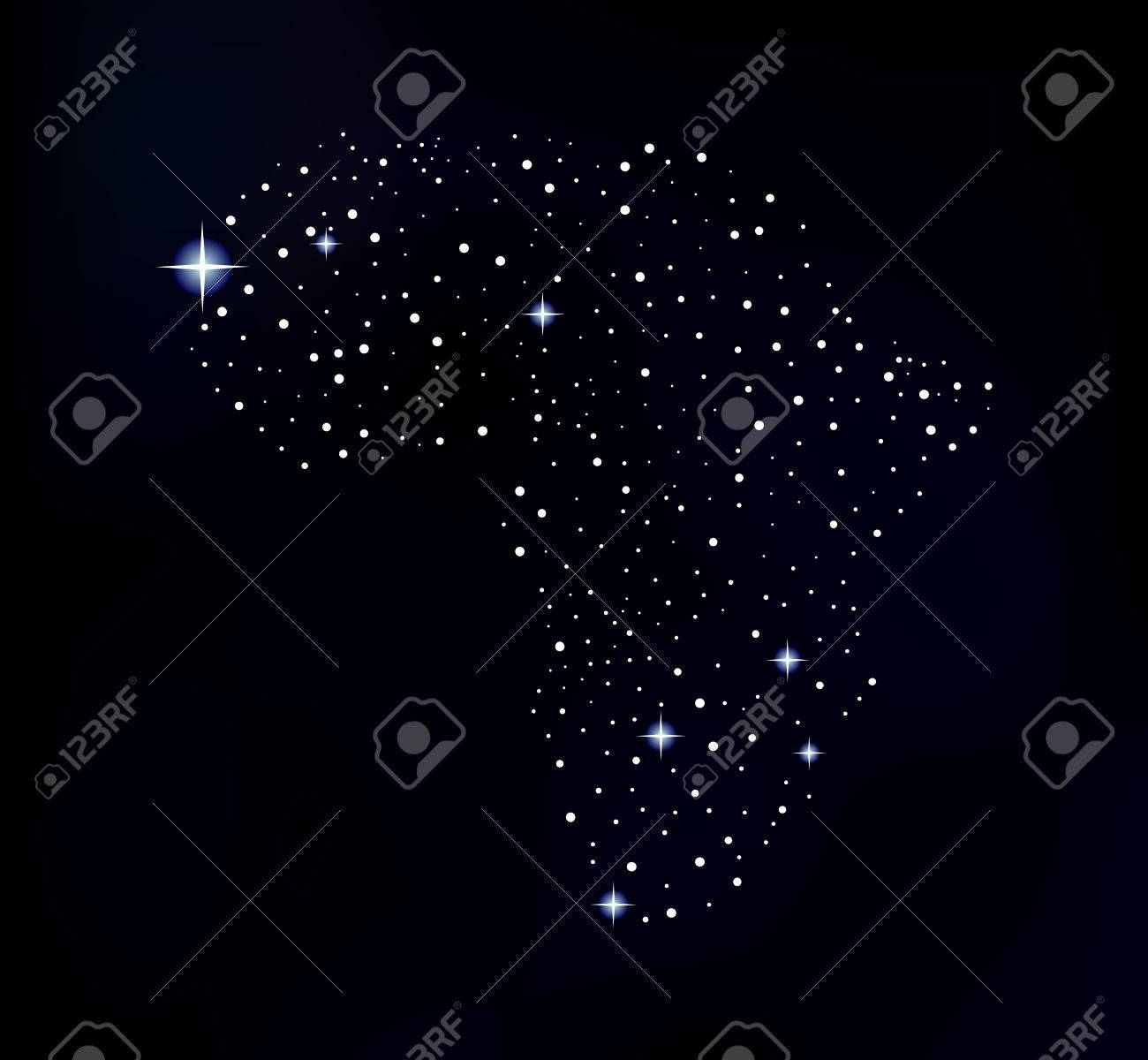 Map Of Africa From Space.Vector Africa Map Made Of Shining Space Stars Elements Of This