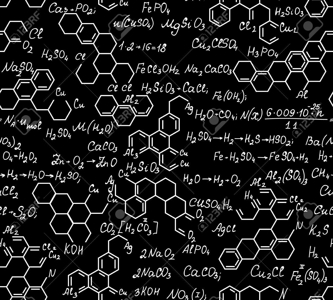 Wissenschaftliche Vektor Endlos Textur Mit Chemischen Formeln ...