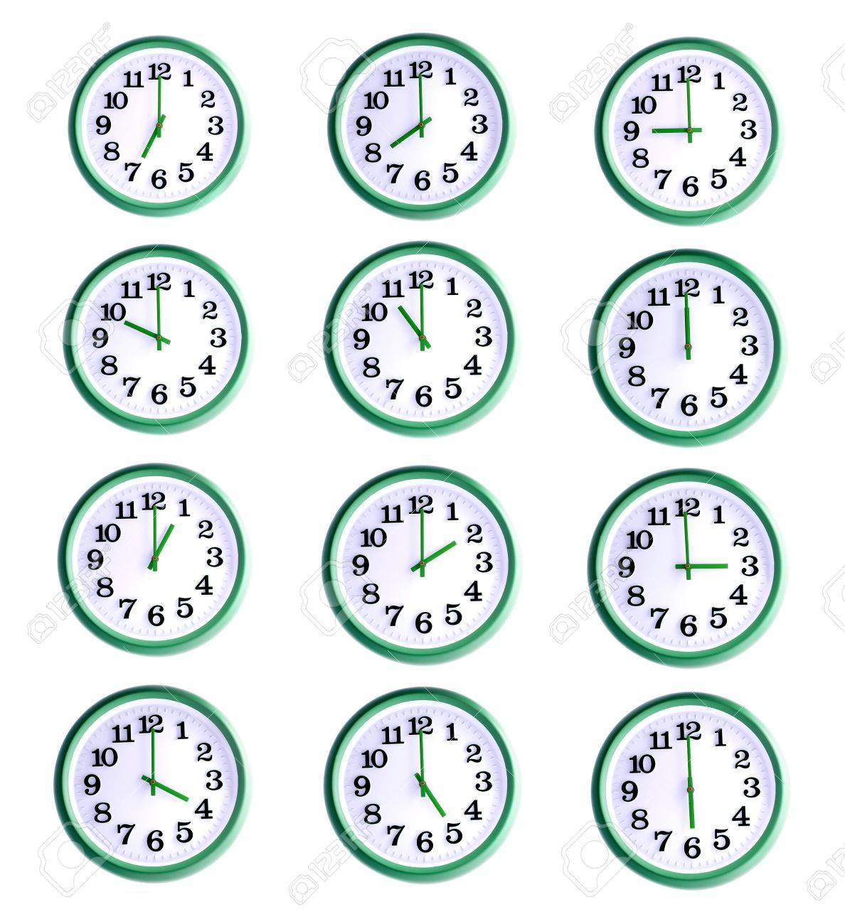 office wall clock. Delighful Office Isolated Office Wall Clock Collage Of Twelve Objects Stock Photo  20941731 To Office Wall Clock S