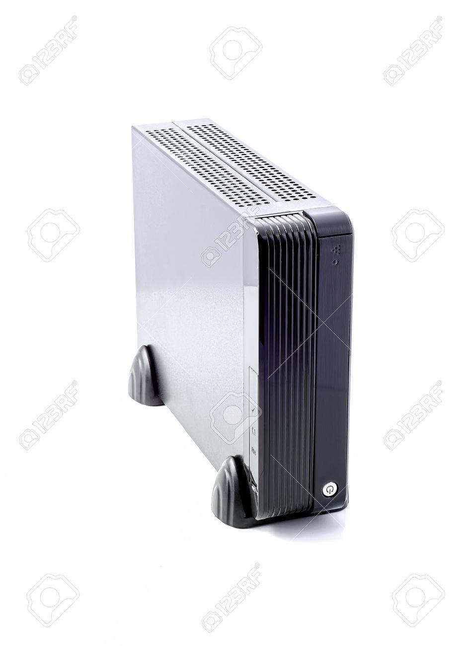 Kleine Computer Turm Auf Weißem Hintergrund Lizenzfreie Fotos