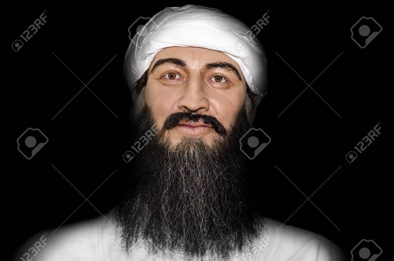 UZHGOROD, UKRAINE - JAN 25, 2014: waxwork Osama bin Laden - Exhibition of Wax Museum Art, Uzhgorod. Stock Photo - 25579140