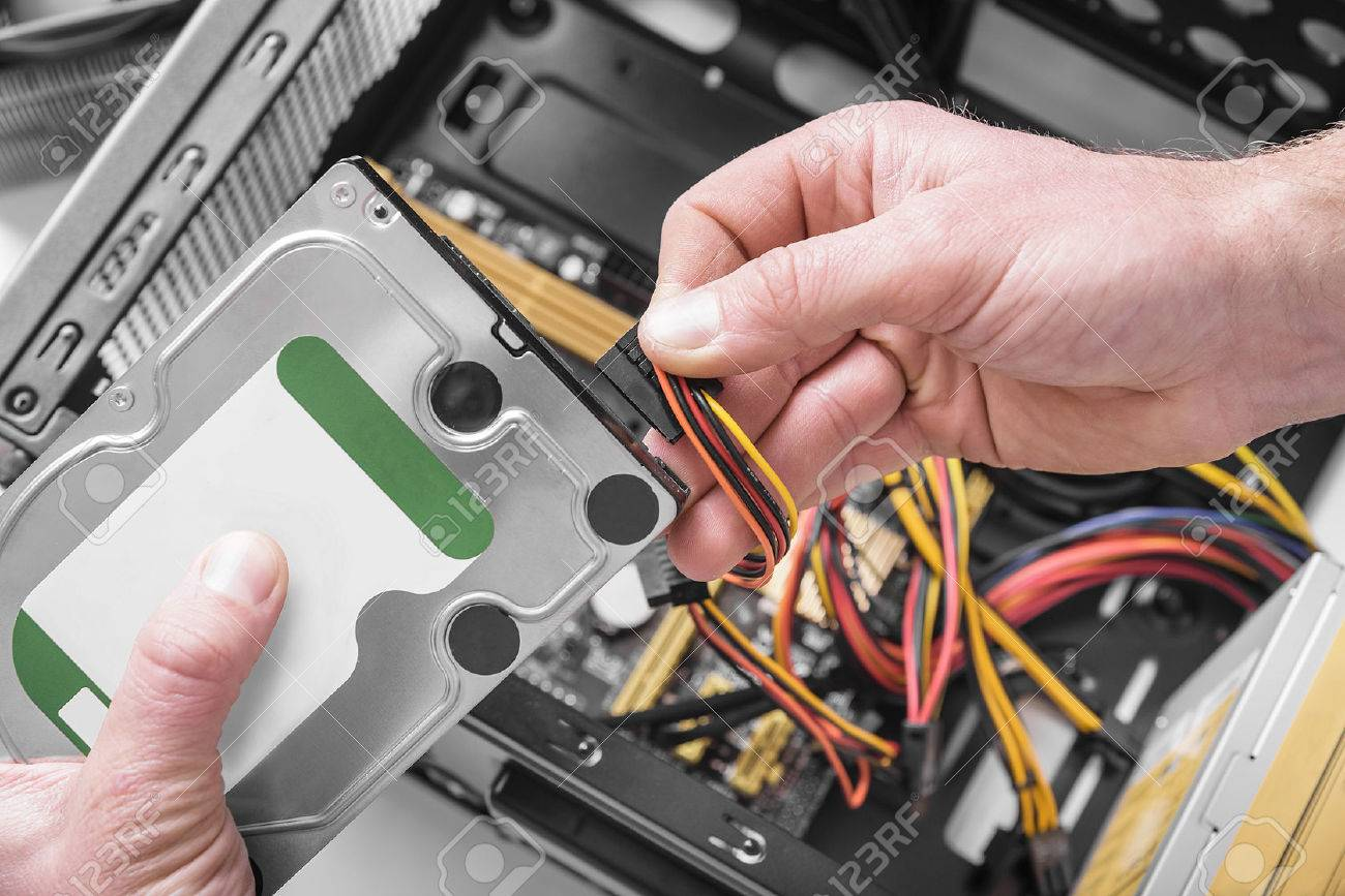 How to connect a hard drive