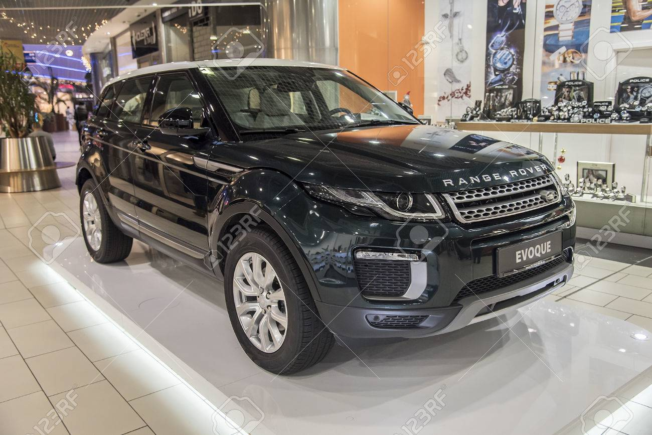 f1d63c8cf2a10 KOSICE, SLOVAKIA - JANUARY 13, 2017: Car Range Rover Evoque at the  exhibition