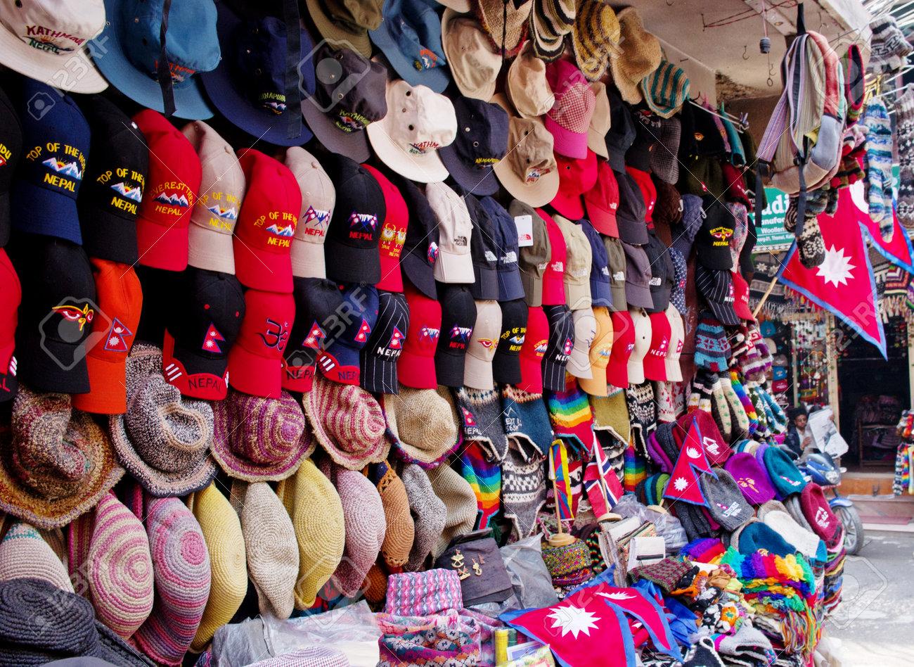 Kathmandu Nepal March 23 The Shop Sell Traditional Nepalese