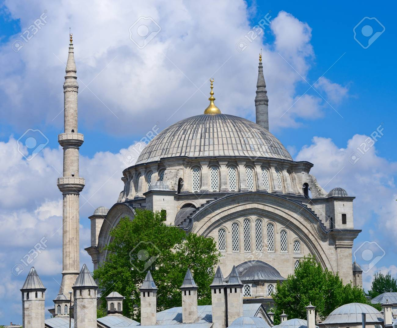 The Nuruosmaniye Mosque Is An Ottoman Mosque In Fatih District