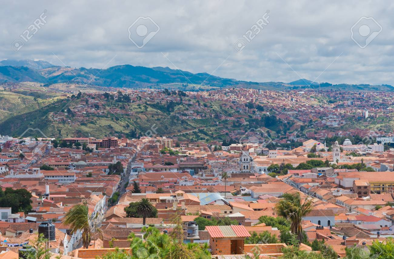 Sucre Bolivia Street In Sucre Constitutional Capital Of Bolivia Stock Photo Picture And Royalty Free Image Image 91128732