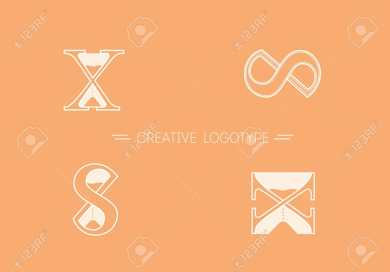 Set creative logos typography and hourglass stock photo picture set creative logos typography and hourglass stock photo 68797471 biocorpaavc Images