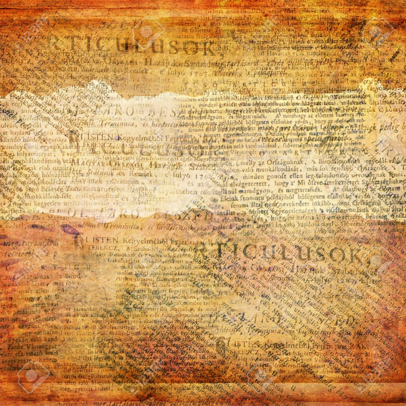 Grunge abstract background with old newspaper - 14835239