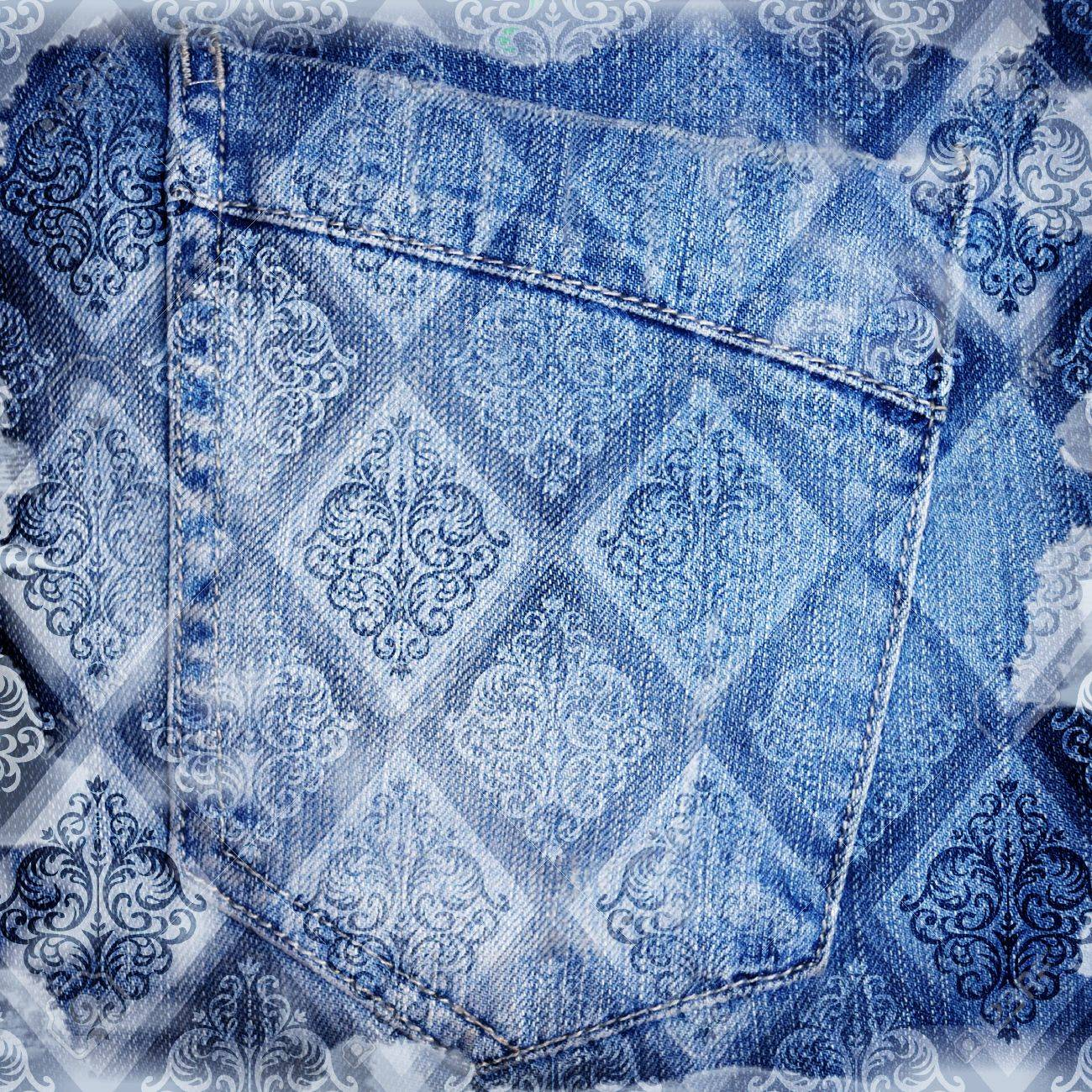 Abstract jeans backround - 14835564