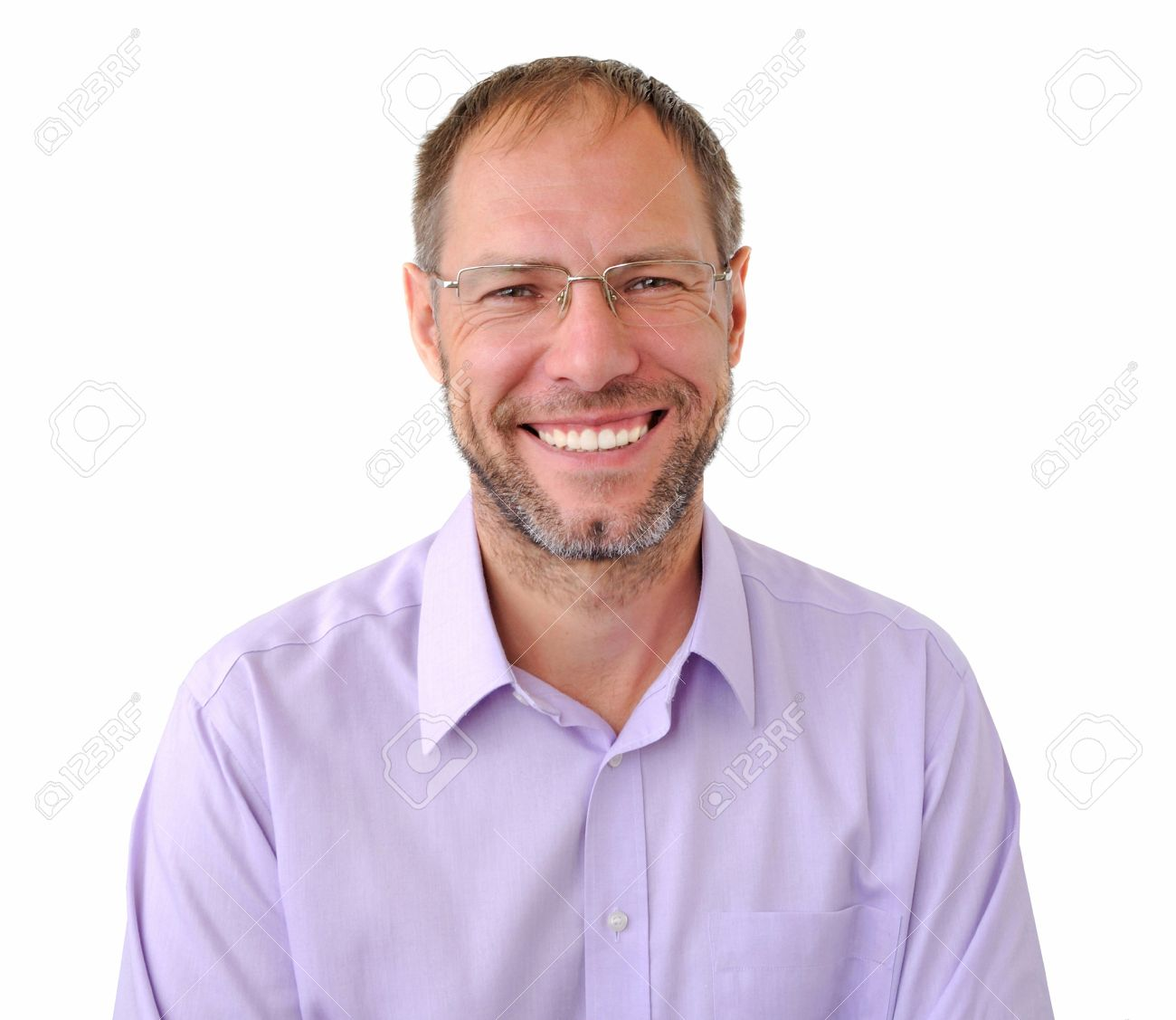 Smiling men isolated on the white background - 16334742