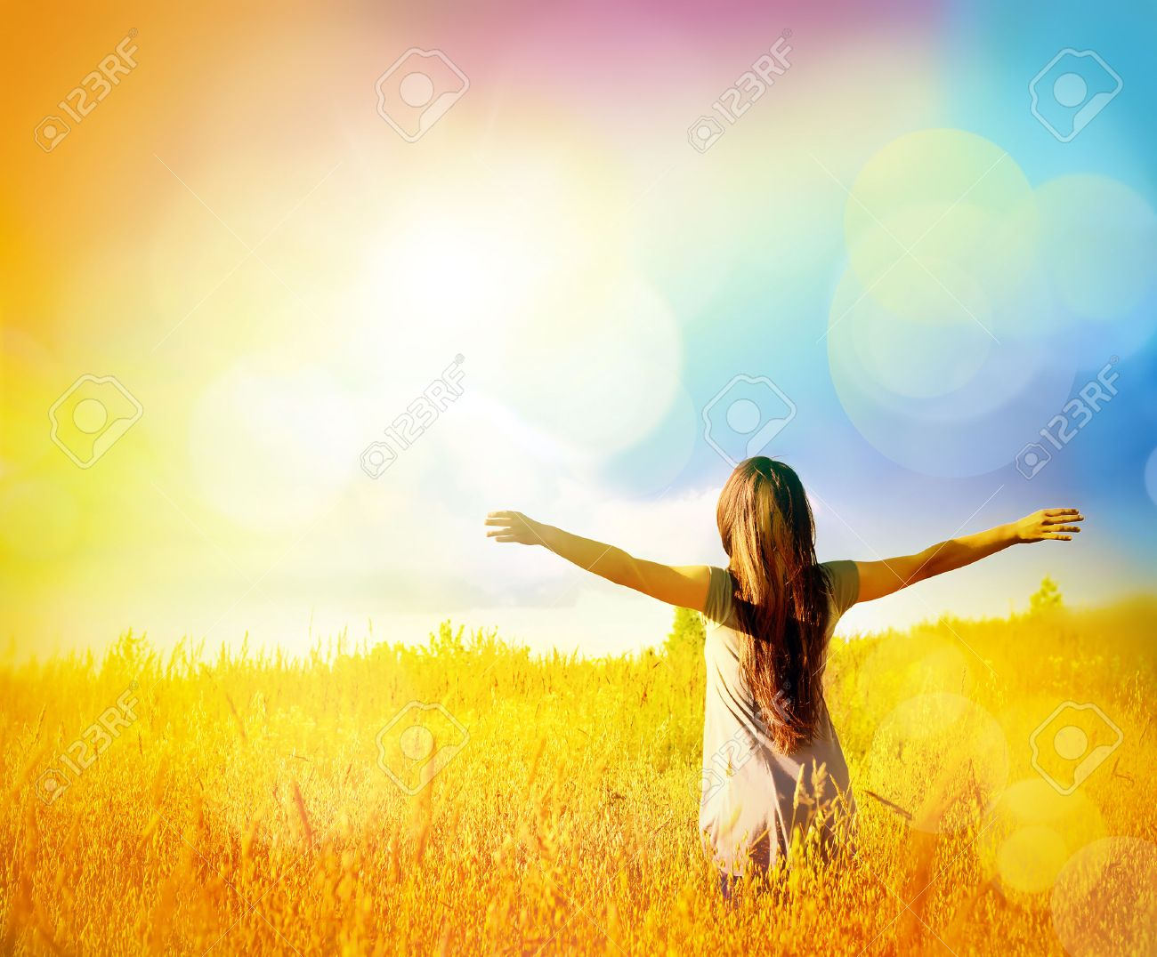 Free Happy Woman Enjoying Nature And Freedom Beauty Girl Outdoor Stock Photo Picture And Royalty Free Image Image 42034577