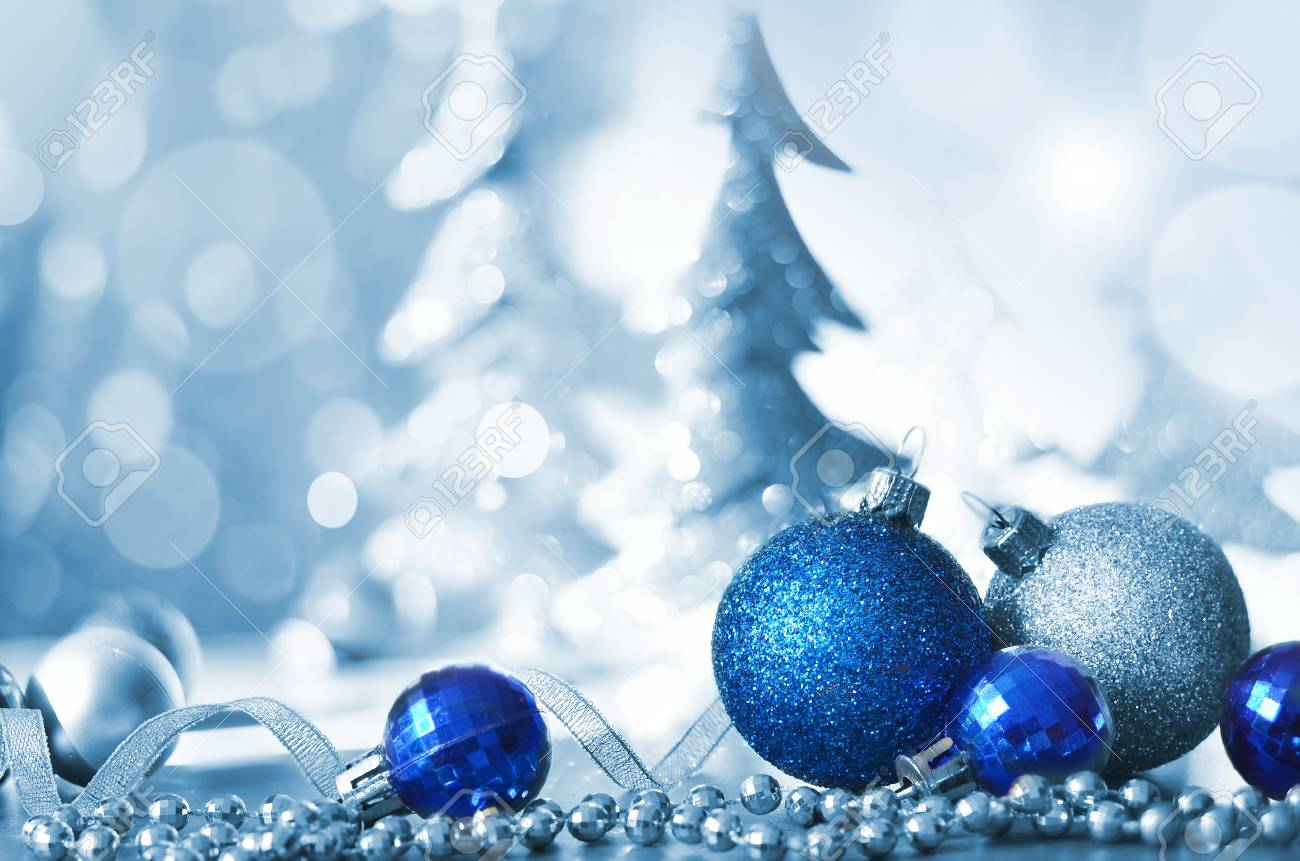 Christmas Holiday Background.Christmas Holiday Background Decorated With Baubles Light Garland