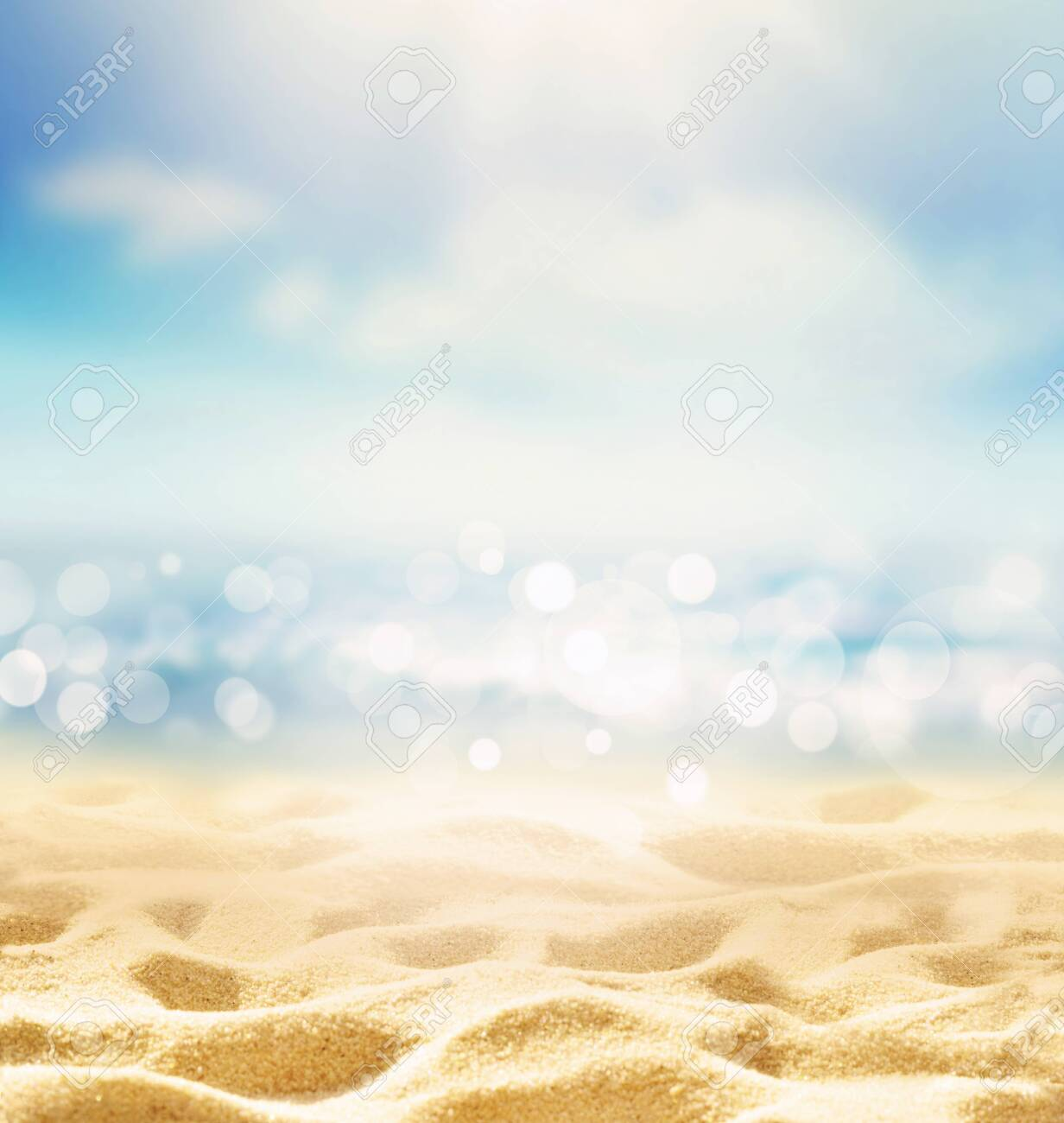 Summer beach background. Sand, sea and sky. Summer concept - 124329305