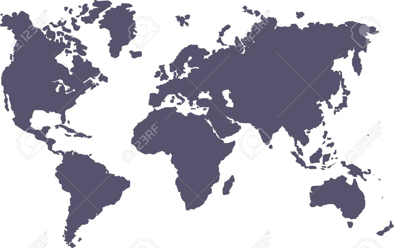 Blank Map Of The World Royalty Free Cliparts Vectors And Stock - Blank of the world