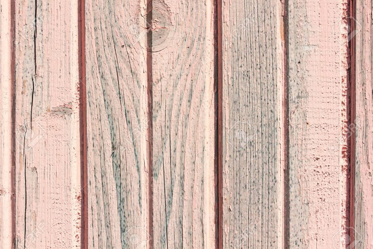 Vieux Bois Peint Rose Rustique Fond La Peinture écaillée Banque D