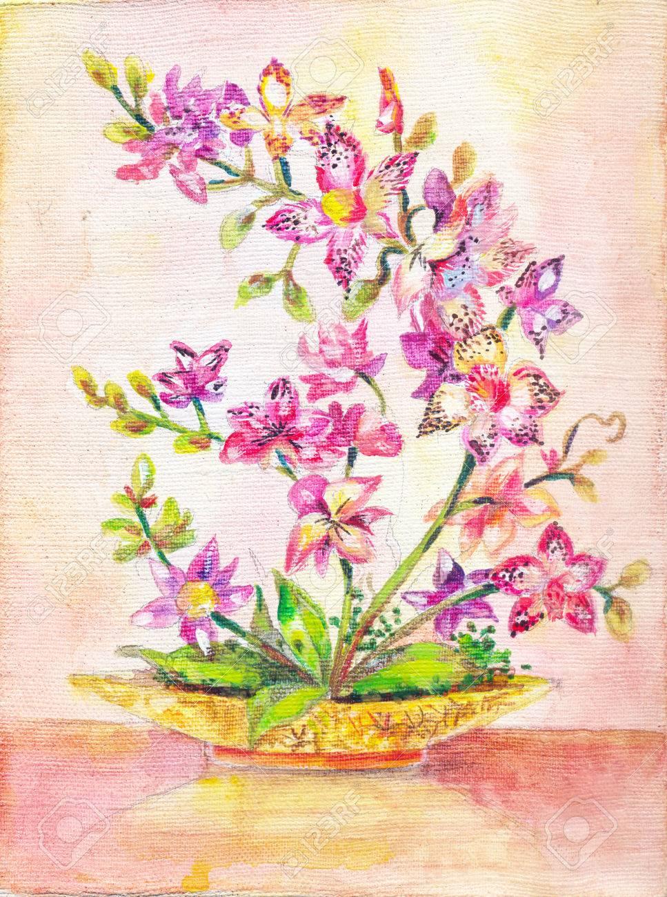 Photo Orchid Bouquet De Fleurs Roses Plante D Interieur Figure