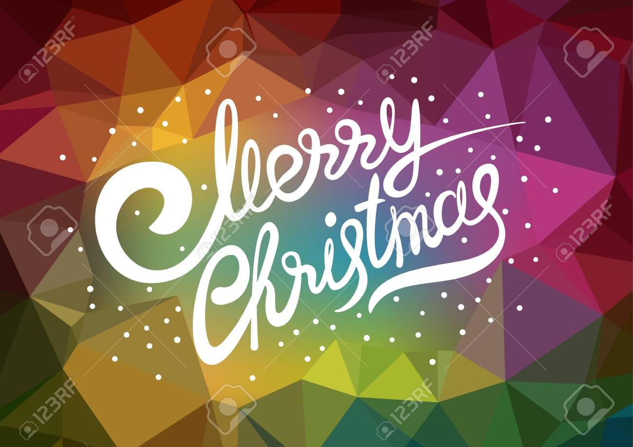 vector template xmas poster lettering merry christmas abstract