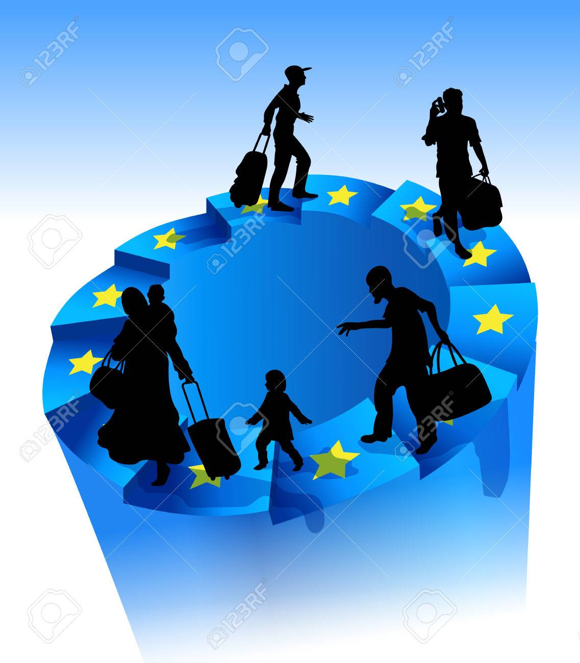 Refugees On An Endless Circular Staircase The Stars Of The European
