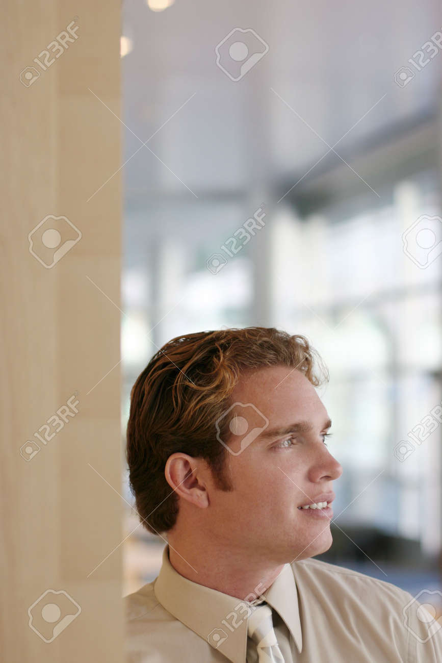 business man looking out in the office Stock Photo - 267310